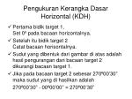 pengukuran kerangka dasar horizontal kdh10