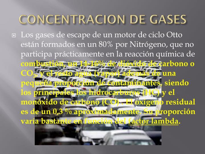 CONCENTRACION DE GASES