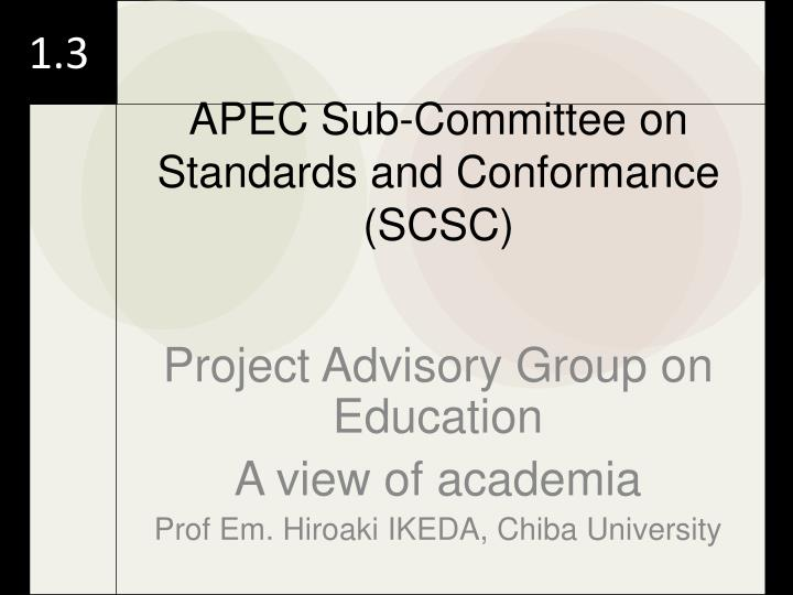 Project Advisory Group on Education