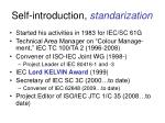 self introduction standarization