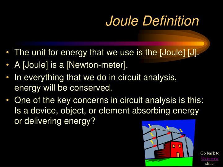 Joule Definition