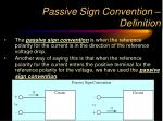 passive sign convention definition