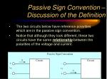 passive sign convention discussion of the definition