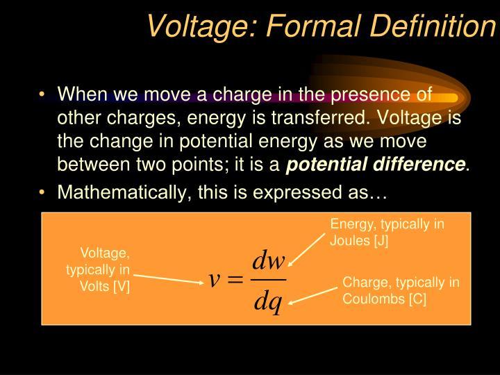 Voltage: Formal Definition