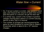 water flow current