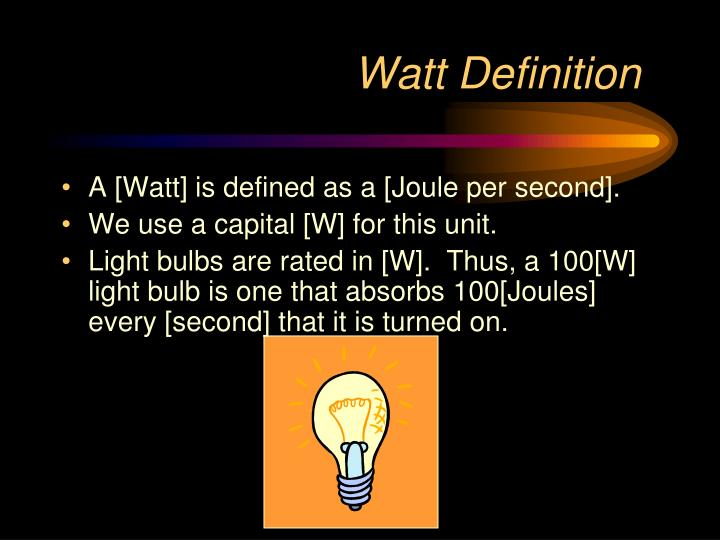 Watt Definition