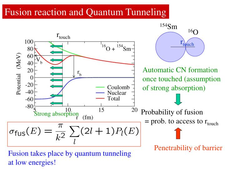 Fusion reaction and Quantum Tunneling