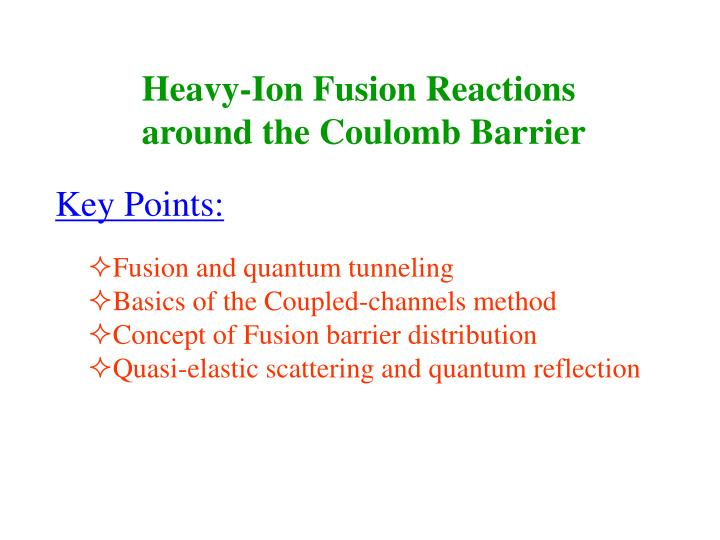 Heavy-Ion Fusion Reactions