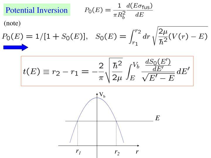 Potential Inversion