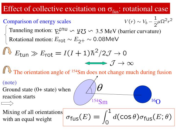 Effect of collective excitation on