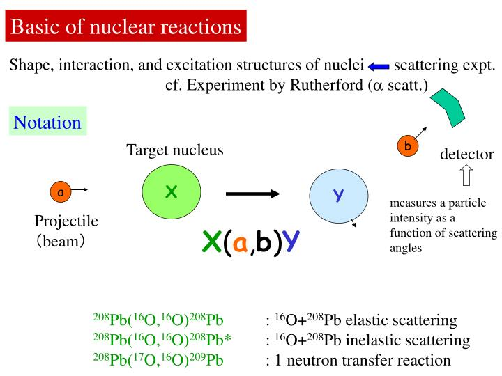 Basic of nuclear reactions