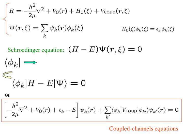 Schroedinger equation: