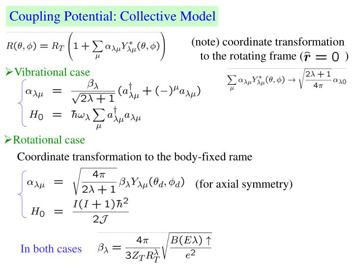 Coupling Potential: Collective Model