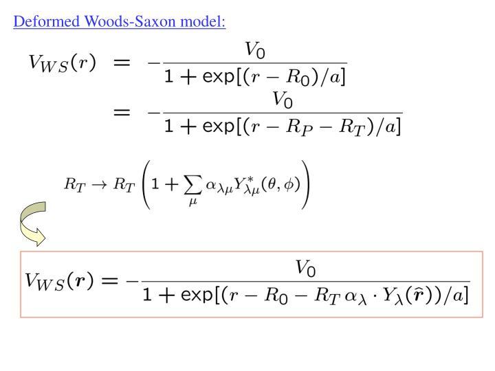Deformed Woods-Saxon model: