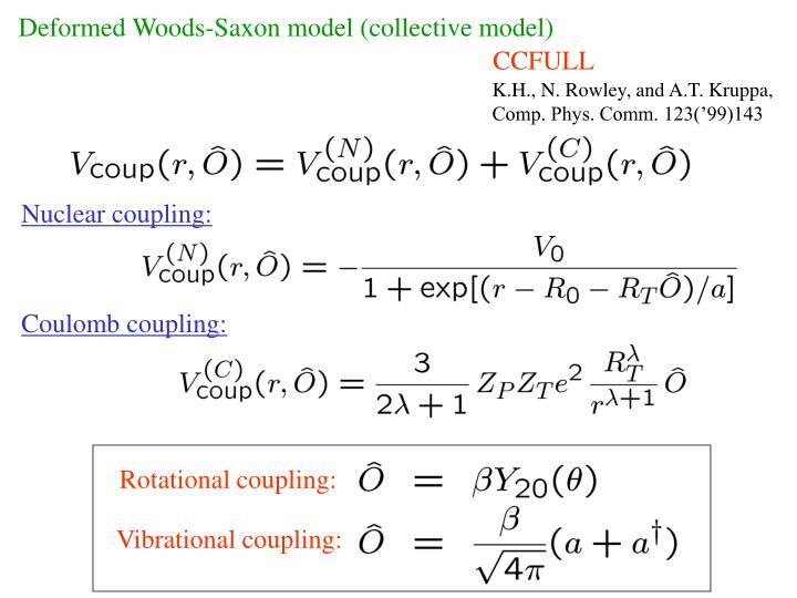 Deformed Woods-Saxon model (collective model)