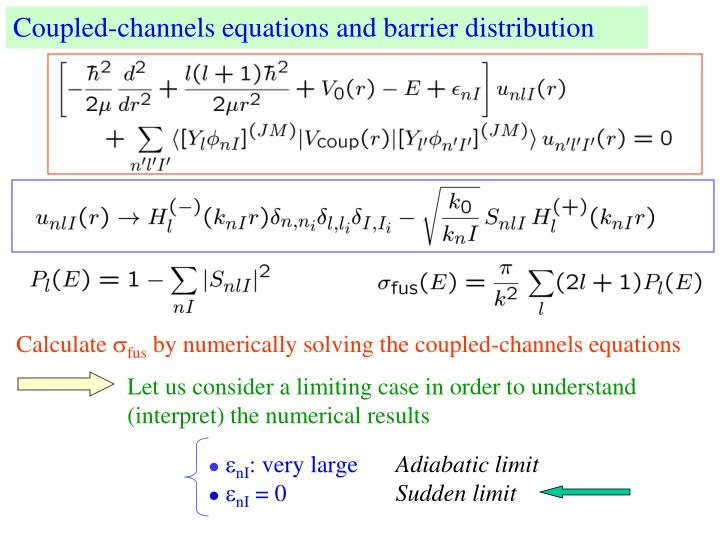 Coupled-channels equations and barrier distribution