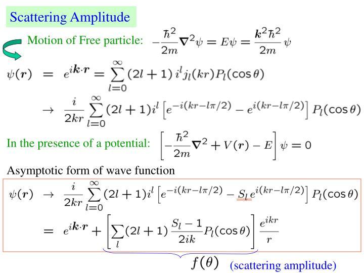 Scattering Amplitude