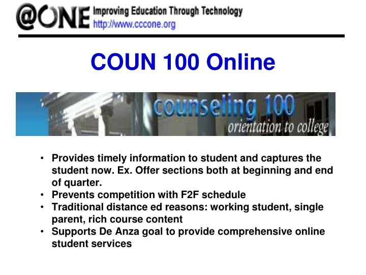 COUN 100 Online