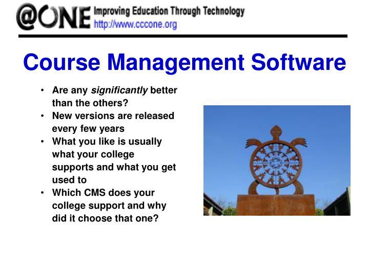 Course Management Software