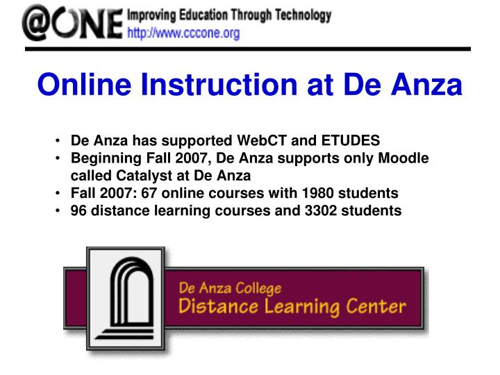 Online Instruction at De Anza