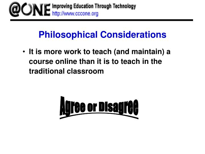 Philosophical Considerations