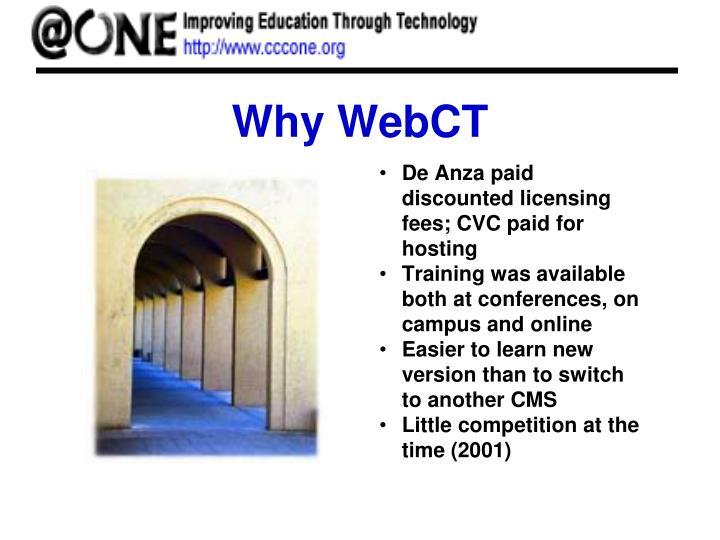 Why WebCT