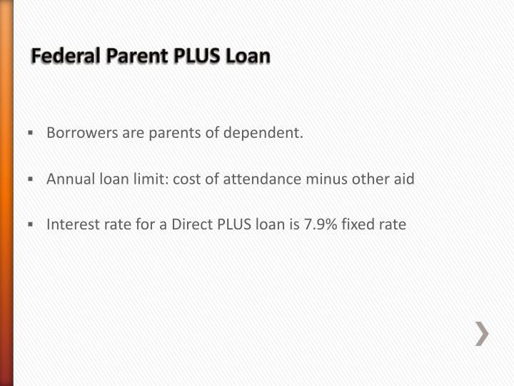 Federal Parent PLUS Loan