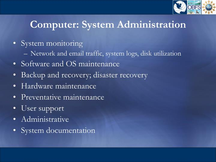 Computer: System Administration