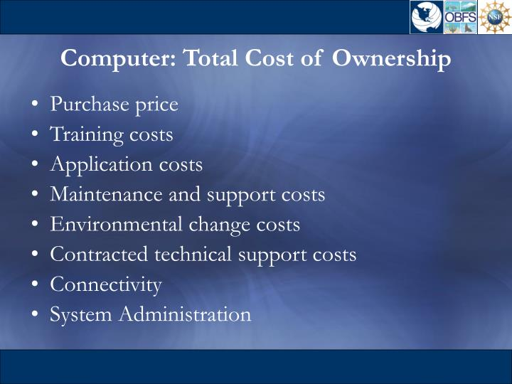 Computer: Total Cost of Ownership