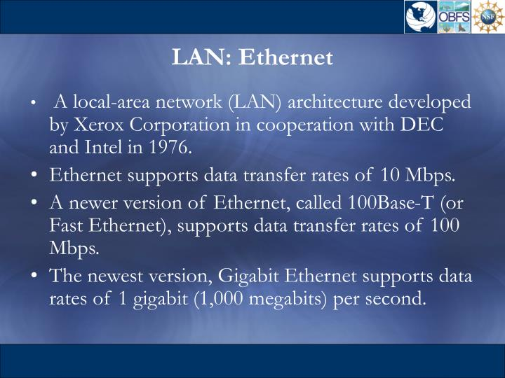 LAN: Ethernet