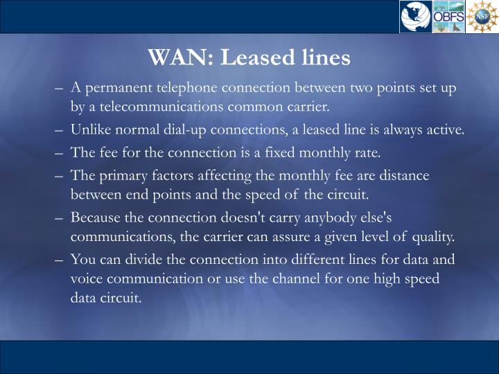 WAN: Leased lines