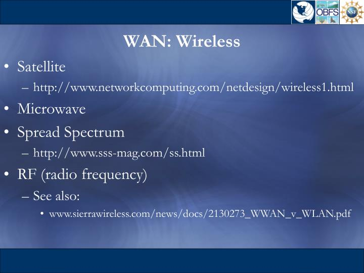 WAN: Wireless