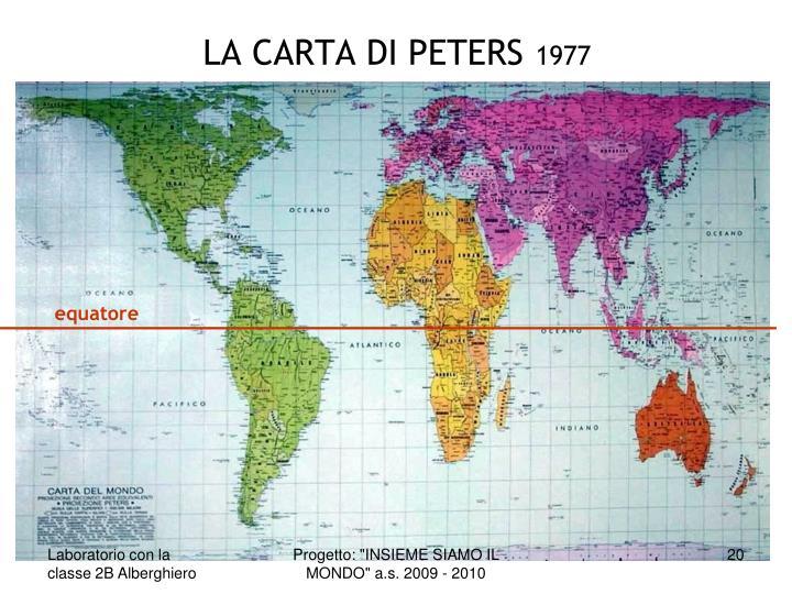 LA CARTA DI PETERS