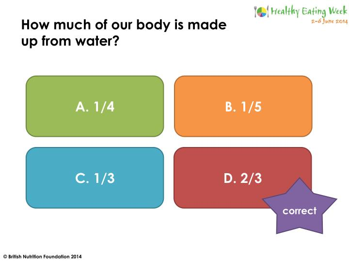How much of our body is made
