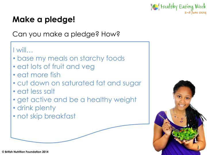 Make a pledge!