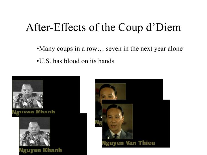 After-Effects of the Coup d'Diem