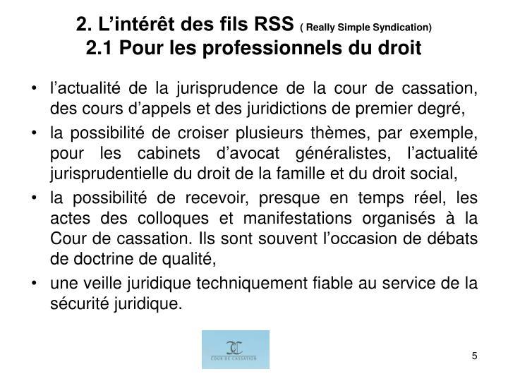 2. L'intérêt des fils RSS