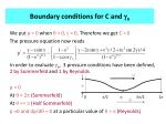 boundary conditions for c and g o
