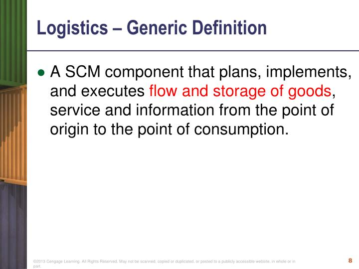 Logistics – Generic Definition