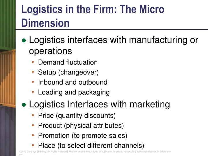 Logistics in the Firm: The Micro Dimension