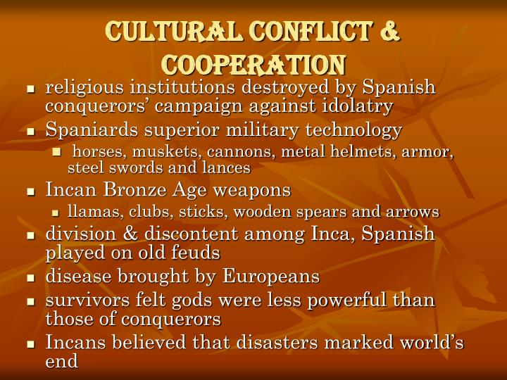 Cultural Conflict & Cooperation