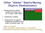 other similar robots moving objects nonholonomic