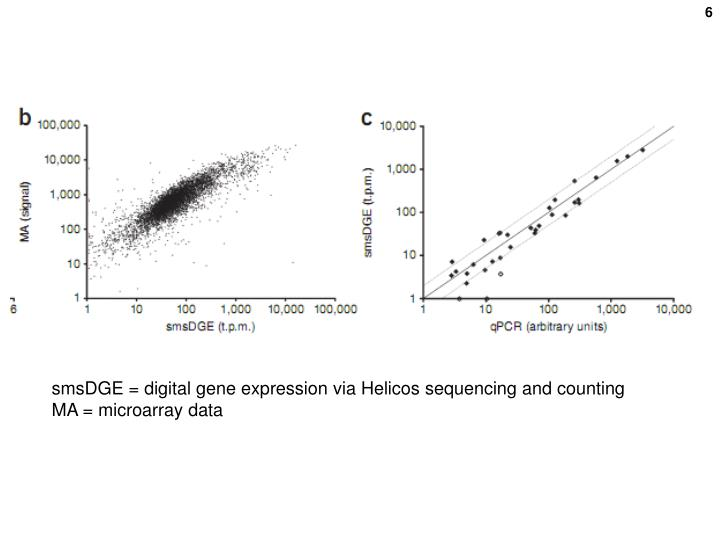 smsDGE = digital gene expression via Helicos sequencing and counting