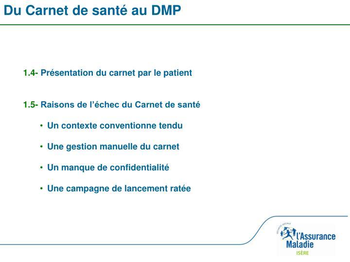 Du Carnet de santé au DMP