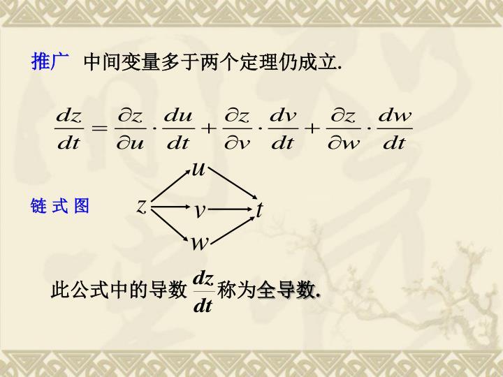 此公式中的导数      称为