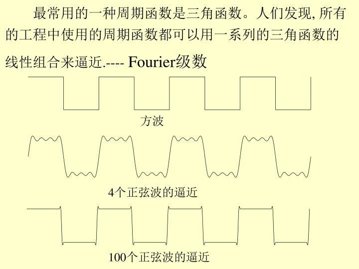 最常用的一种周期函数是三角函数。人们发现