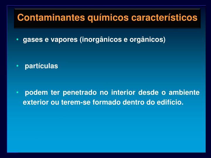 Contaminantes químicos característicos