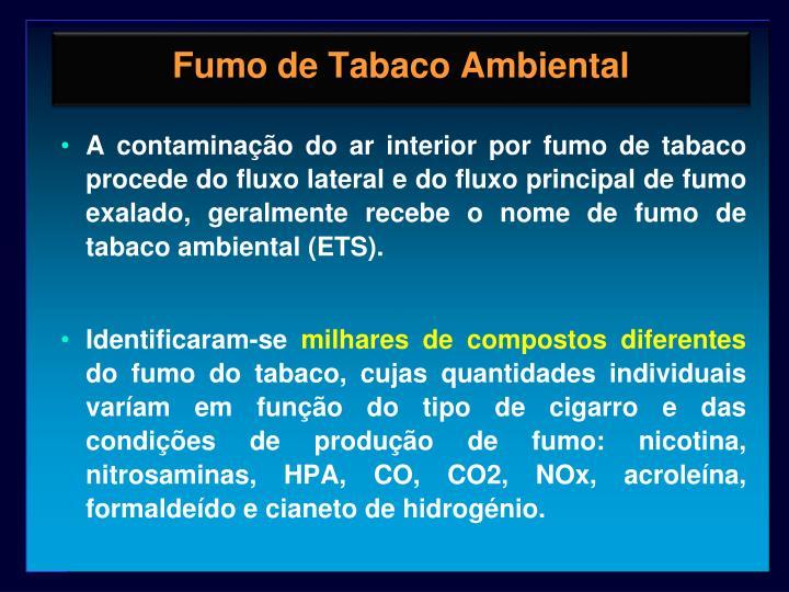 Fumo de Tabaco Ambiental