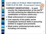 east african public procurement forum june 2008 procurement context3