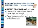 east african public procurement forum june 2008 procurement context5